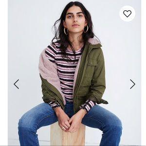 Madewell Sherpa-trimmed surplus jacket